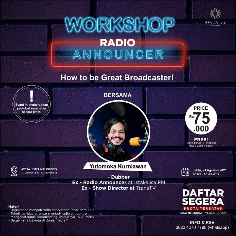 Workshop Radio Announcer