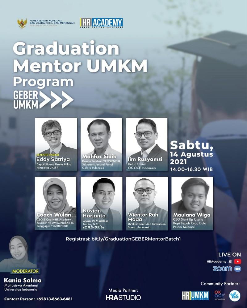 Graduation Mentor UMKM Program Geber UMKM