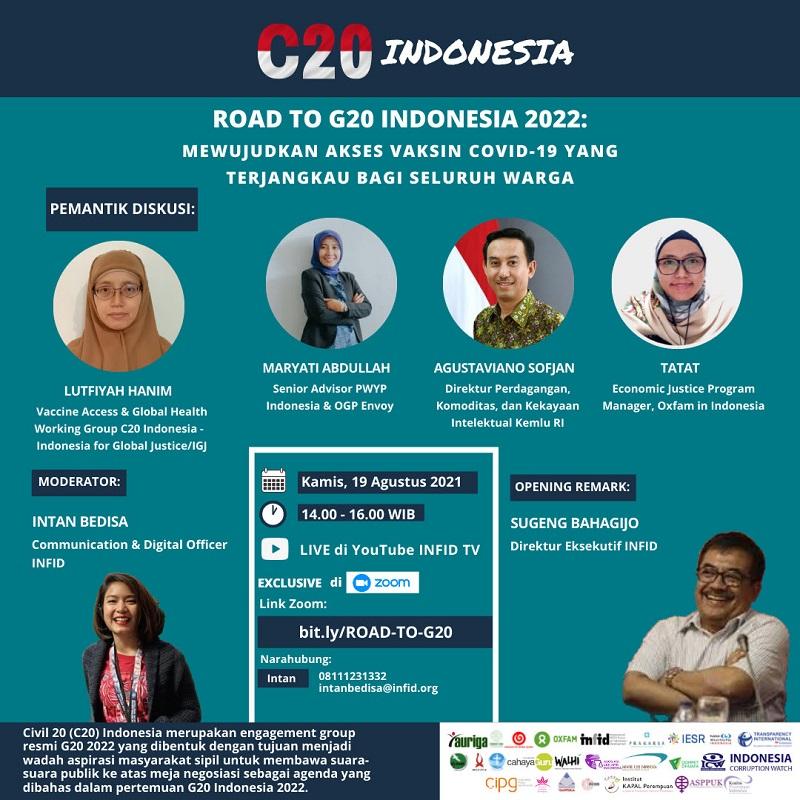 """""""Road to G20 Indonesia 2022: Upaya Mewujudkan Akses Vaksin yang Terjangkau Bagi Warga"""""""