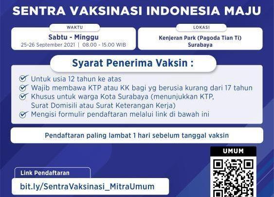 Sentra Vaksinasi Indonesia Maju – Surabaya