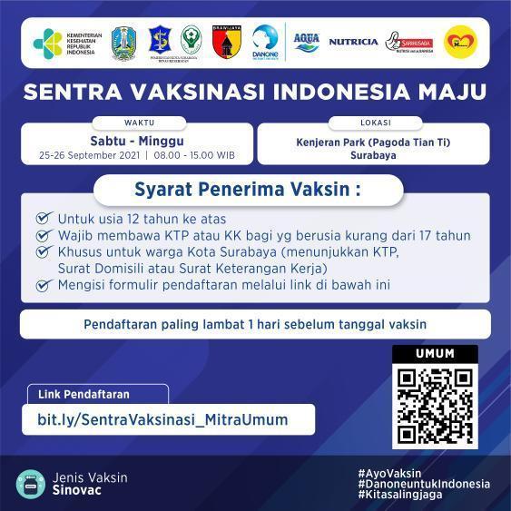 Sentra Vaksinasi Indonesia Maju - Surabaya