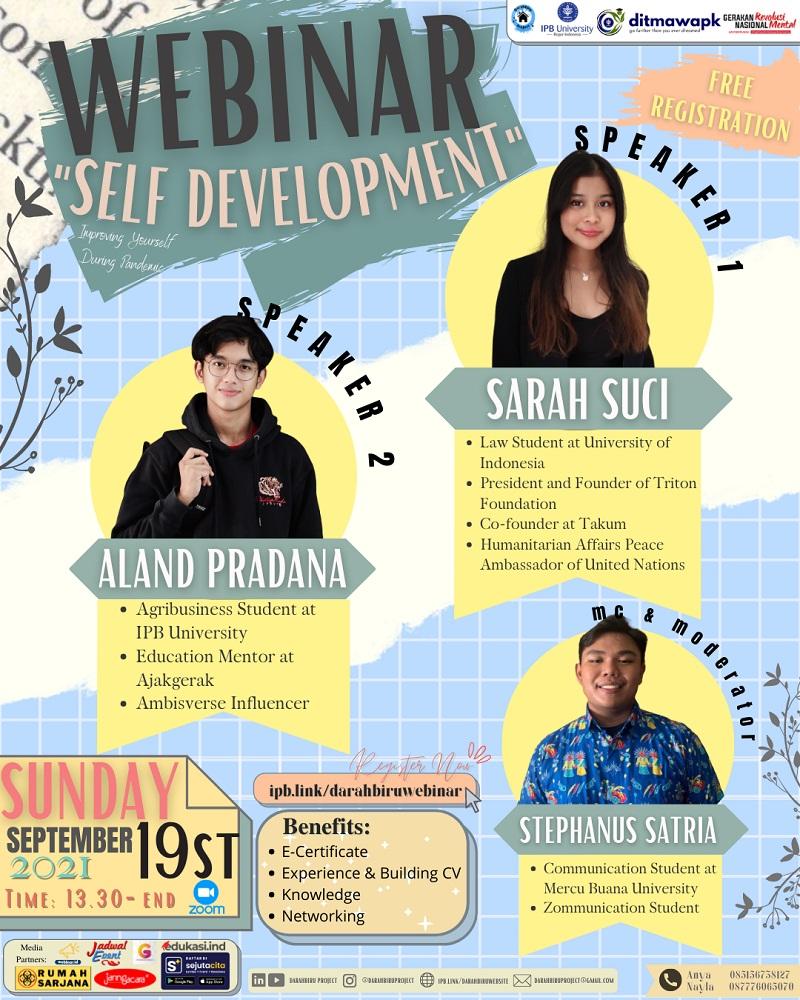 Self Development Webinar Darahbiru Project