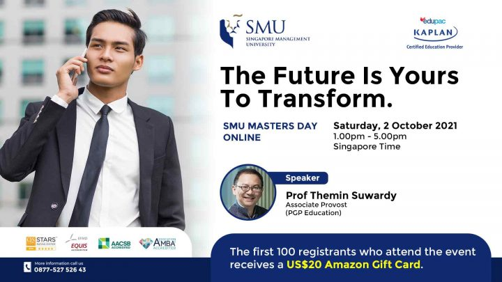 Free Webinar : SMU Masters Day ONLINE – The Future Is Yours To Transform.