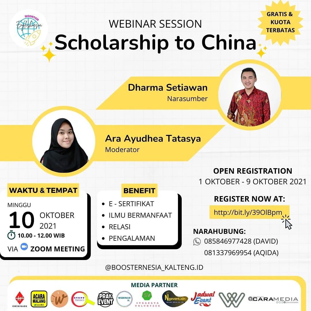 Scholarship to China
