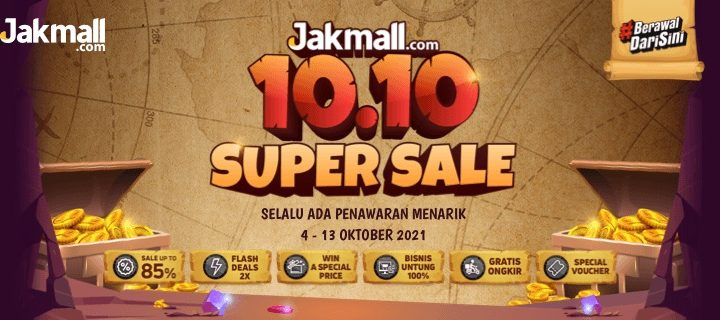 Promo 10.10 Jakmall – Jakmall Super Sale 10.10