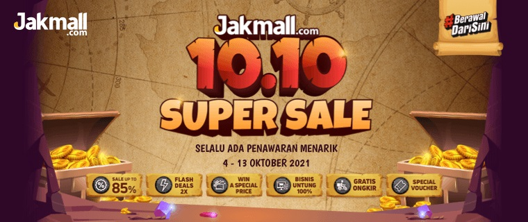 Promo 10.10 Jakmall - Jakmall Super Sale 10.10