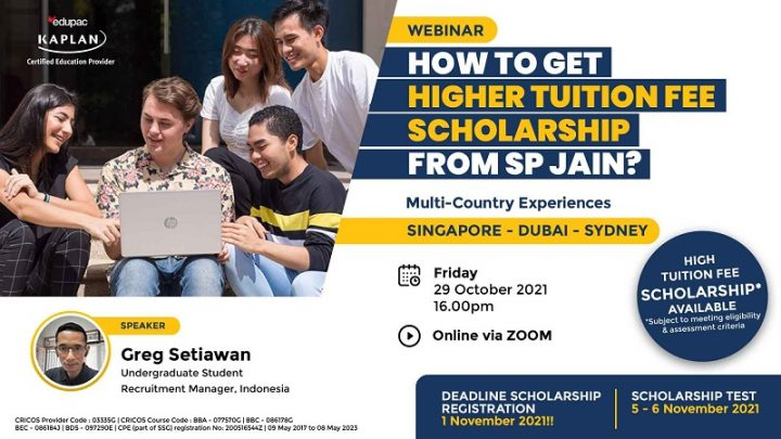 WEBINAR : How to get higher tuition fee scholarship from SP Jain? – SP JAIN School of Global Management