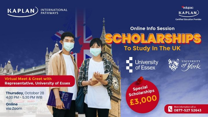 Free Online Info Session : Scholarships to Study in The UK with Kaplan International Pathways