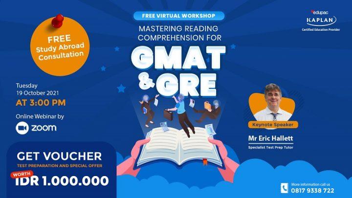 "Free Virtual Workshop ""Mastering Reading Comprehension for GMAT & GRE"""